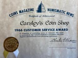 1966 Customer Service Award / Prix de Service a la Clientele 1966