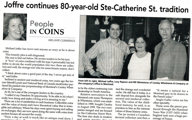 """Canadian Coin News"" 2008"