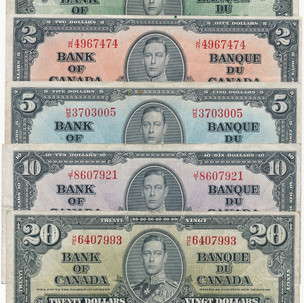Canada 1937 Issue of Paper Money