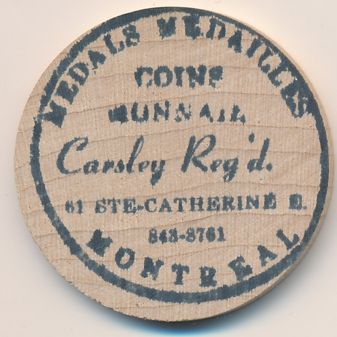 Wooden Nickel/Piece en Bois