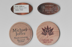 Token over the years/Jeton a travers les annees