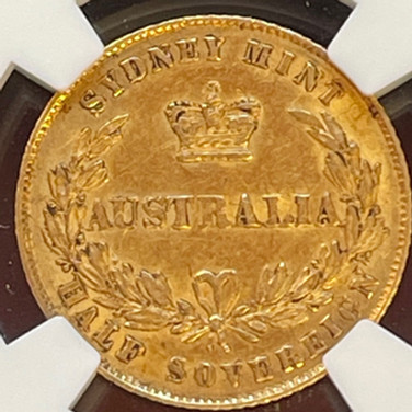 Australia 1/2 Sovereign 1866
