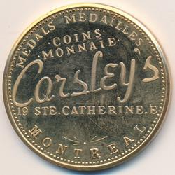 Carsleys 50th Anniversary Medal 1978/Medaille du 50e Anniversaire 1978