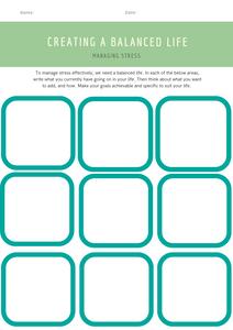 stress management worksheet