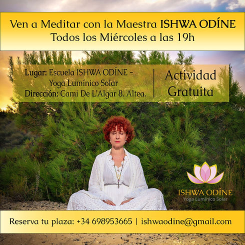 Meditación los miercoles gratuita en Ish