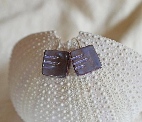 Boucles carré violet en Argent