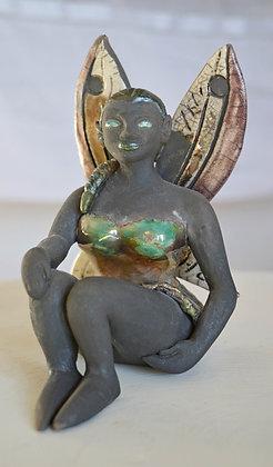 Sculpture Fée à la natte