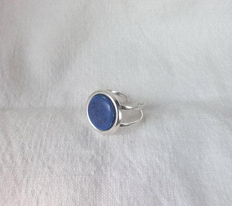 Bague Bleu en Argent