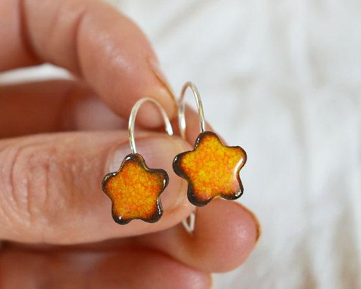 """Boucles """"étoile"""" Oranger en Argent"""