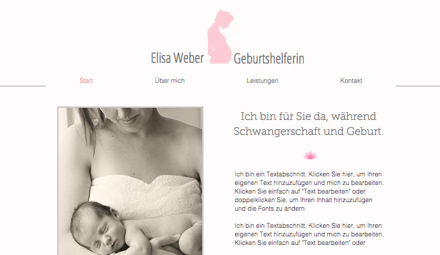 Beratung & Coaching website templates – Hebamme