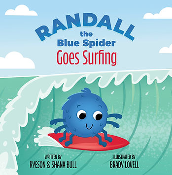 Randall the Blue Spider Goes Surfing - F