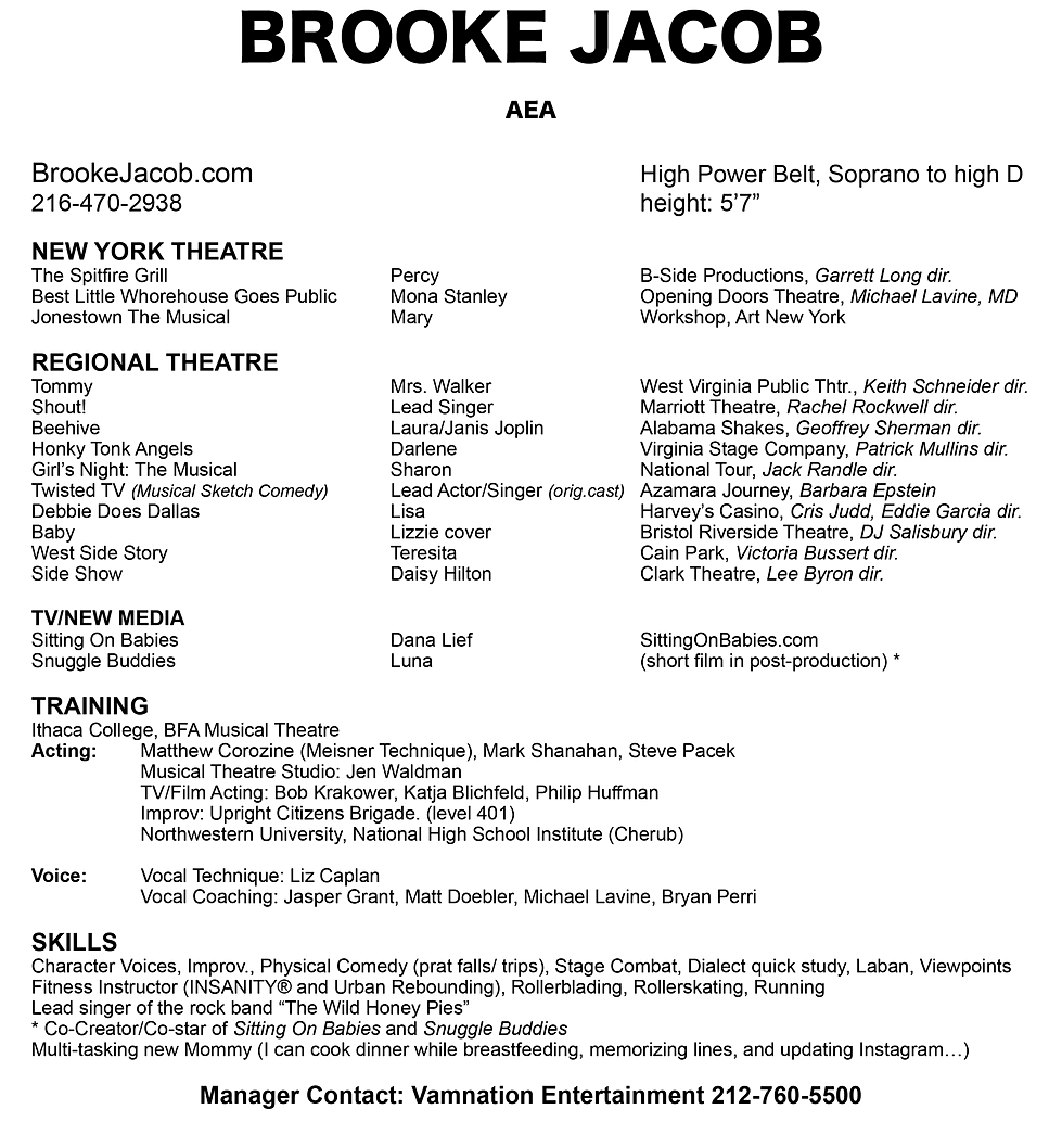 brooke jacob the resume contact
