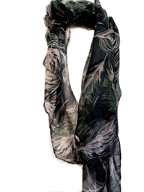 Pañuelo negro  y gris M192