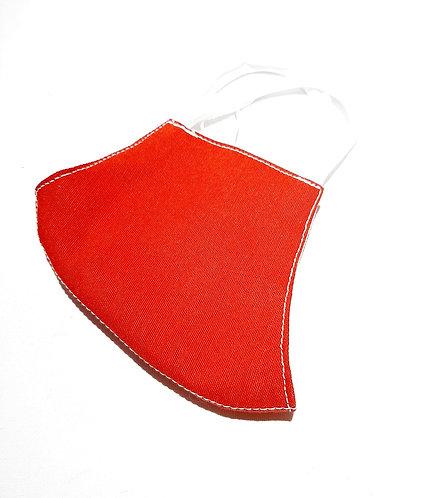 Mascarilla de tela roja