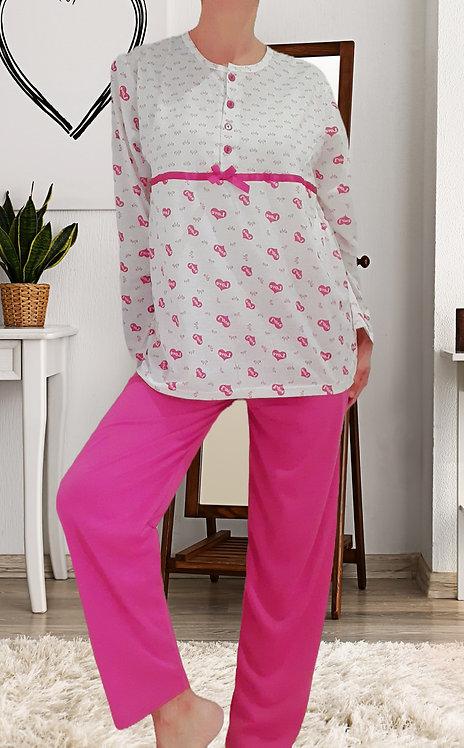 Pijama Corazones rosa