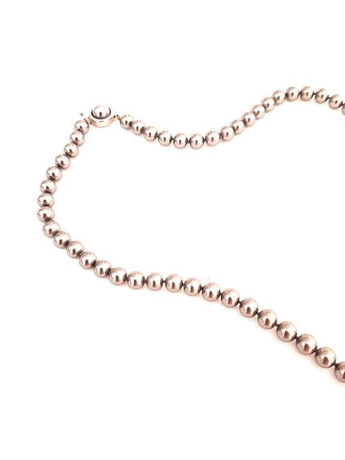 Collar perla negra Clasic Plata 1Ley