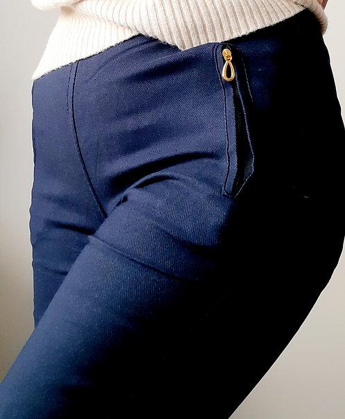 Pantalón elástico azul Tallas de 38 a 48