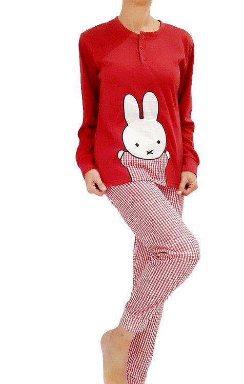 Pijama cuadros rojo