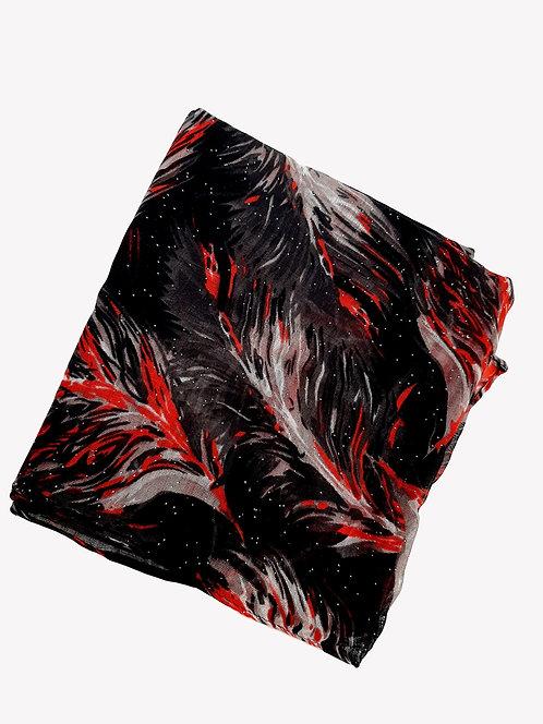 Pañuelo negro y rojo M192