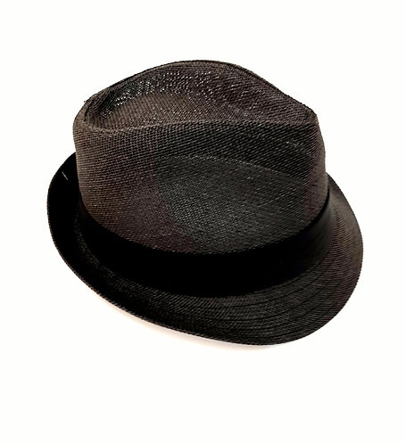 Sombrero negro cinta negra