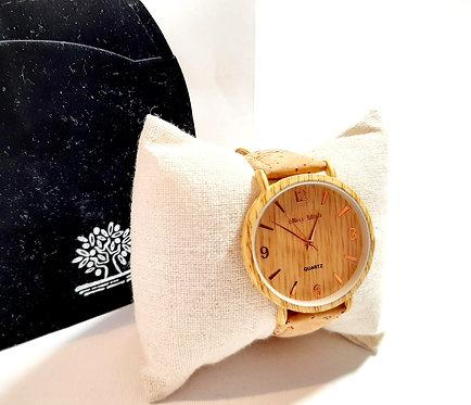 Reloj corcho 12369 dorado
