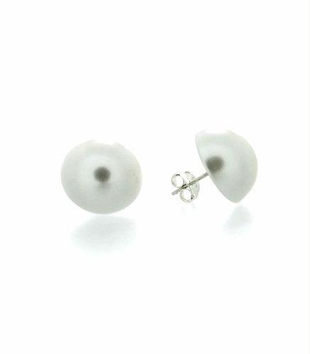 Perla blanca botón