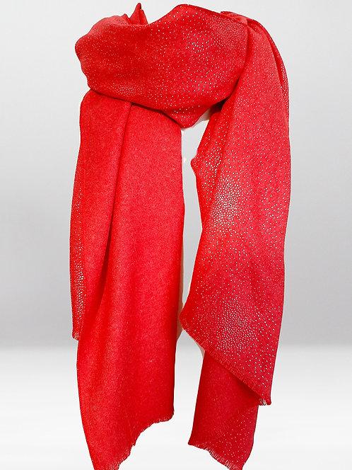 Pañuelo Cashmere  rojo JR41