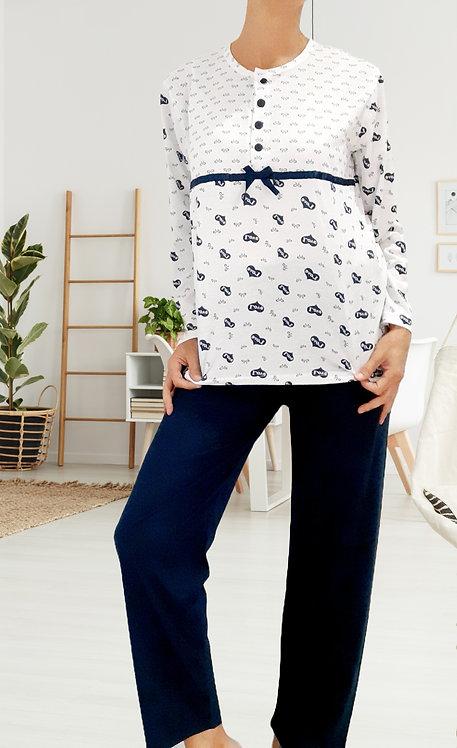 Pijama Corazones Azul
