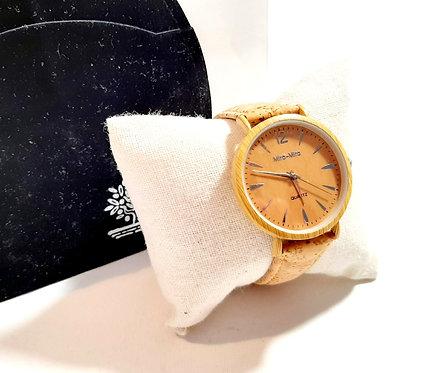 Reloj corcho madera