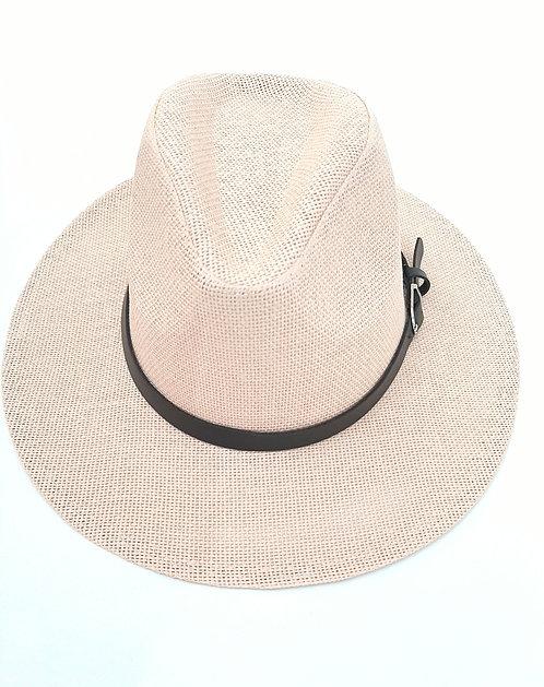 Sombrero cuero y hebilla