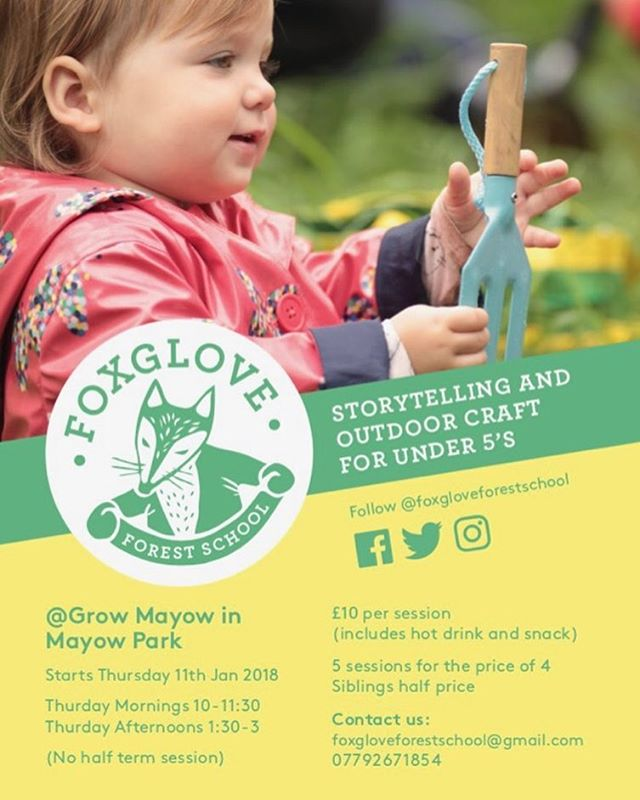 SPRING 2018 dates are here! Early booking advised! #foxgloveforestschool _growmayow