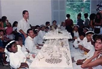 Festa de 1ª comunhão das crianças