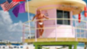 men in swimwear on miami beach