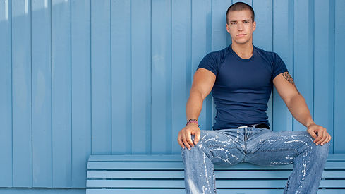 handsome men colour background