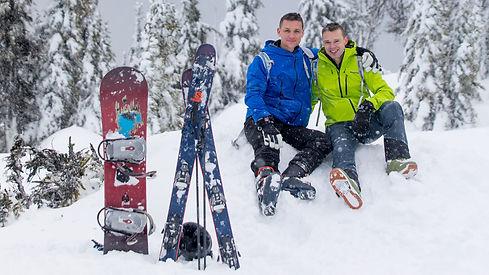 hot men in the snow