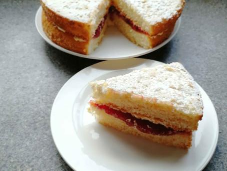Strawberry Sponge Cake                   (Dairy Free Recipe)