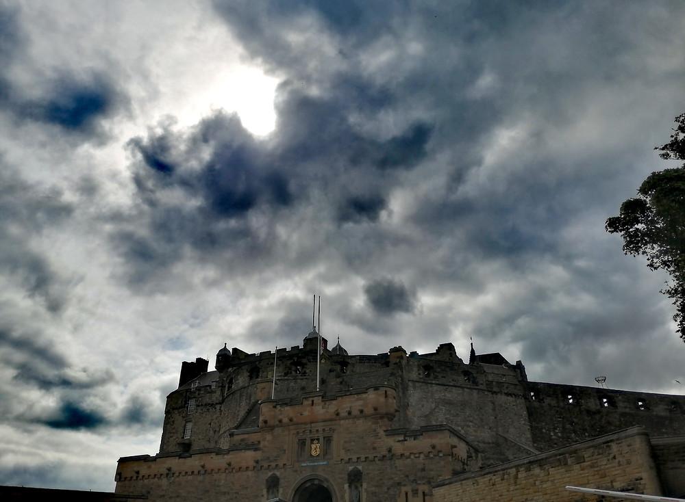 Edinburgh Castle on a cloudy day