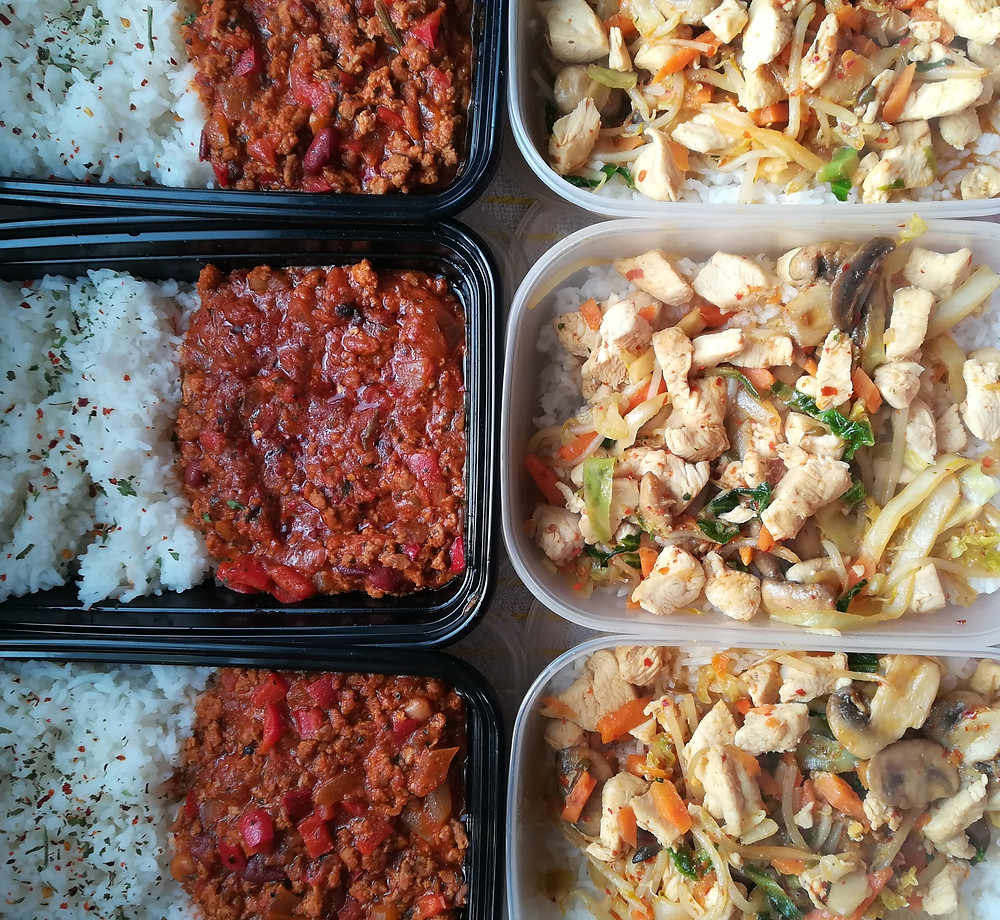 Meal-prepped tupperware