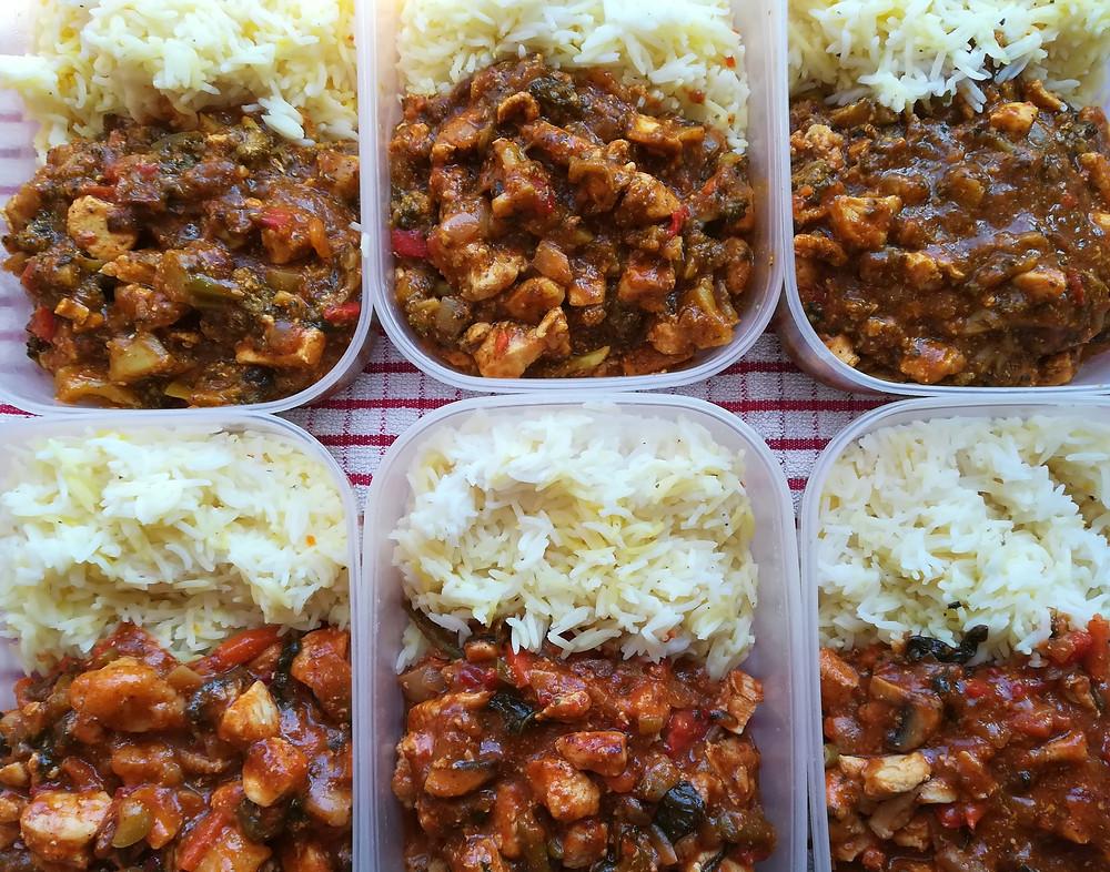 time-saving meal-prepping