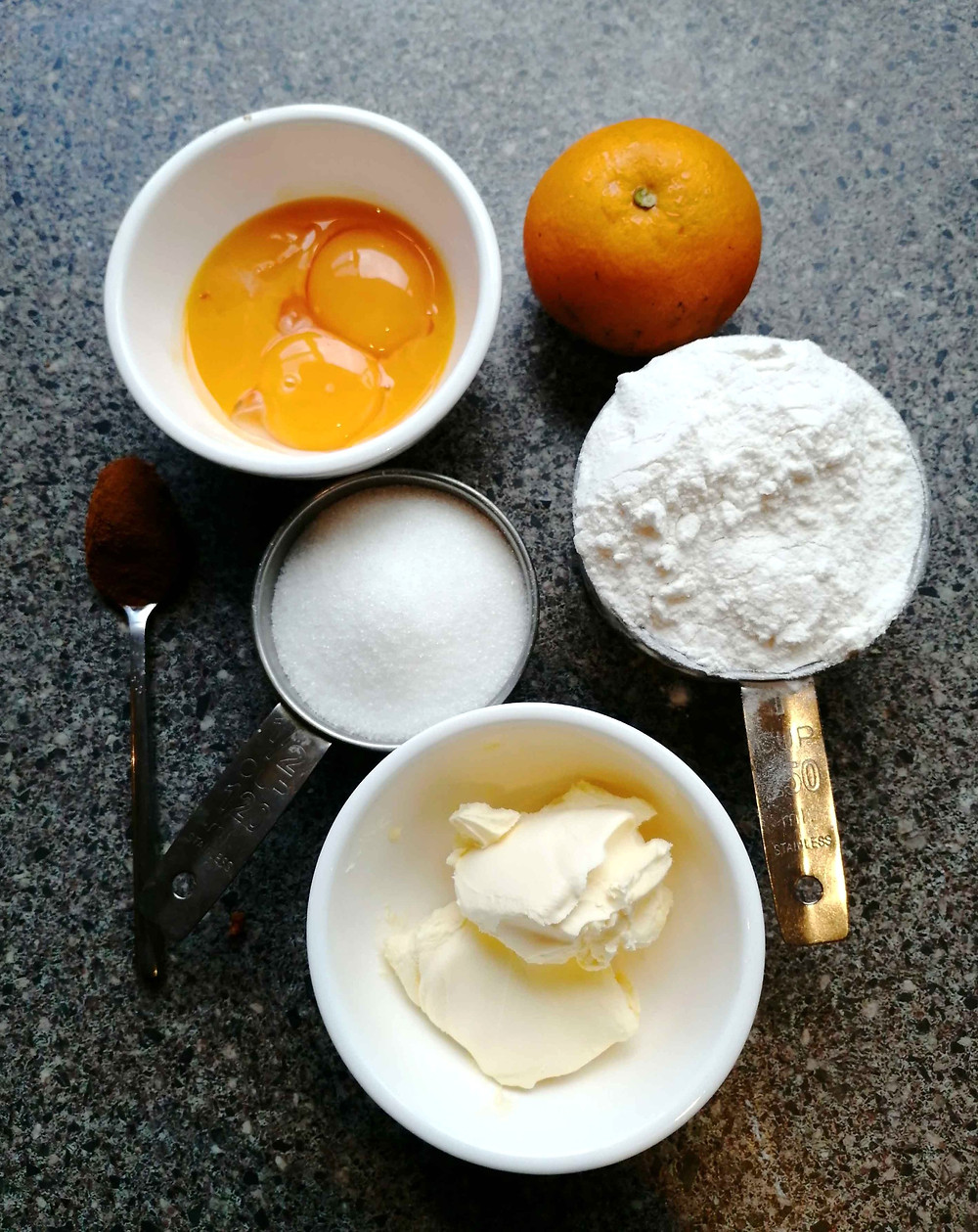 Orange and Cinnamon Cookies ingredients