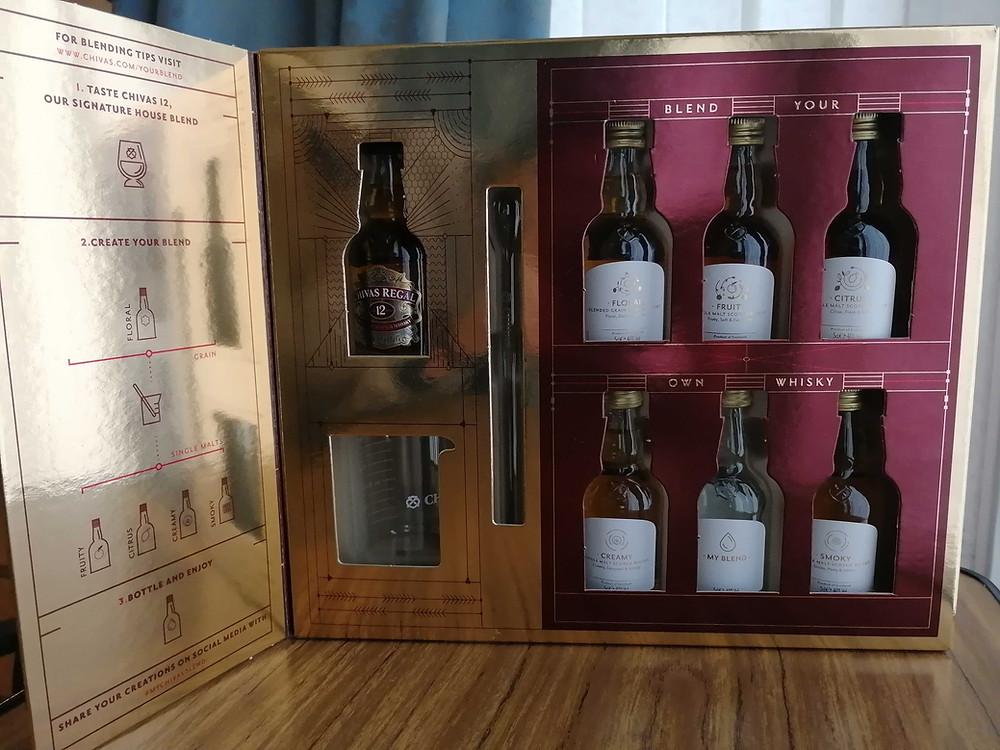 unboxing chivas regal blending kit