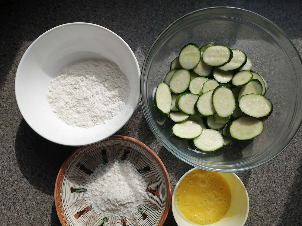 Fried Courgettes Ingredients