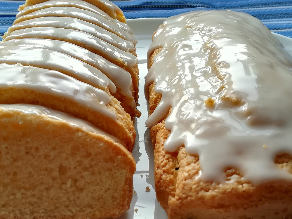 lemon drizzle cake loaf and slices