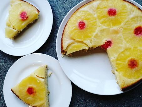 Pineapple Upside-Down Cake        (Gluten & Dairy-Free Recipe)