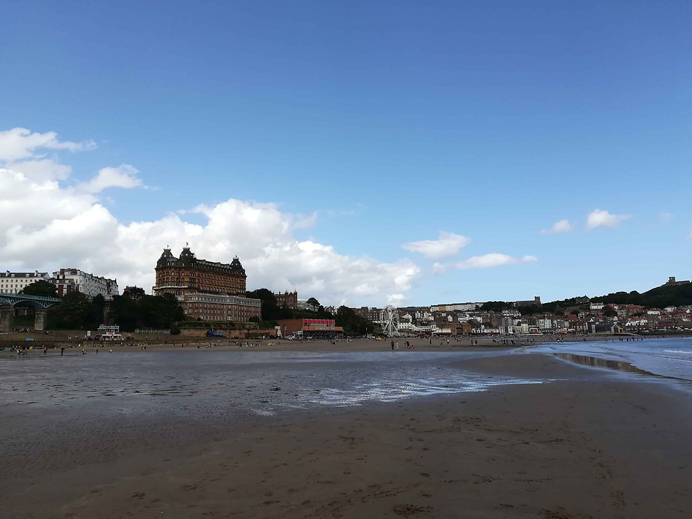 The Grand Hotel Scarborough view from the beach