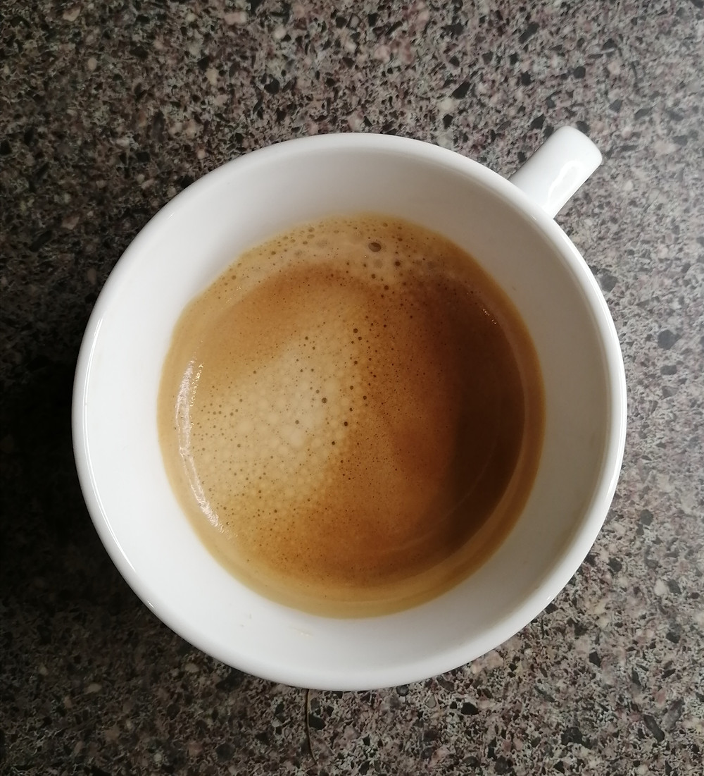 freshly-made cup of coffee