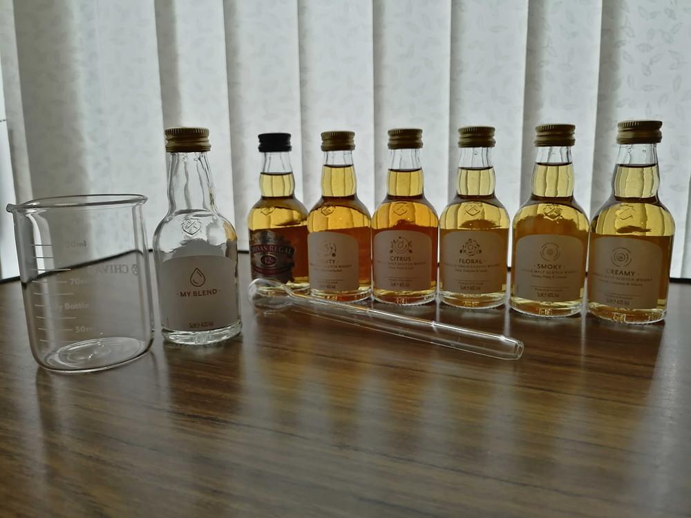 Chivas Regal whisky blending Kit items