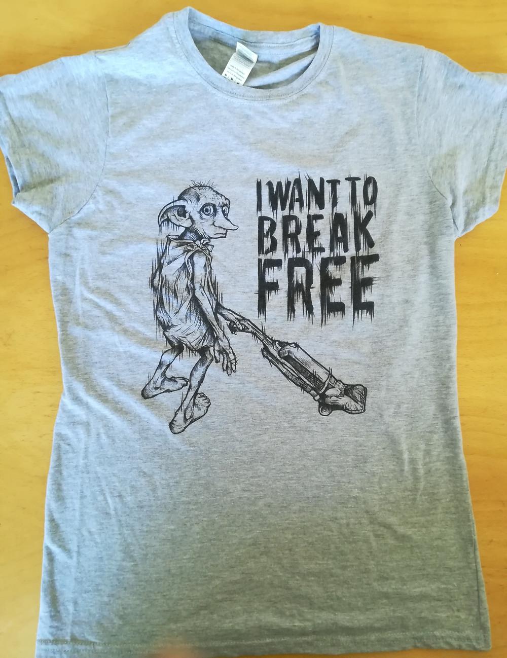 monthly tee I want to break free Dobby