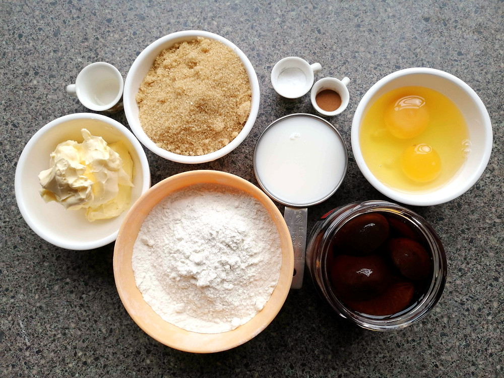 Spiced plum cake ingredients