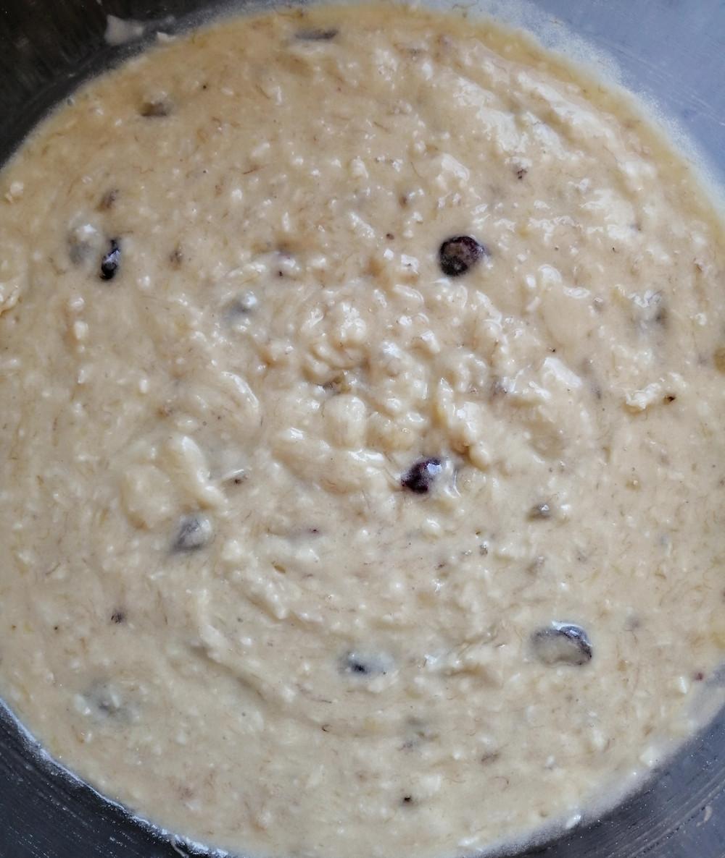 Coconut & Cranberry Banana Bread batter